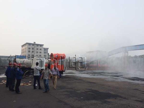 移动式喷雾机山西临汾焦化煤场降尘
