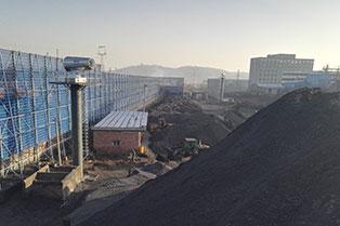 山西龙马煤业第二代喷雾机降尘现场